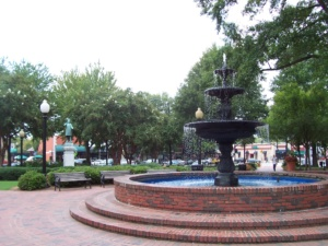downtown Marietta, GA fountain